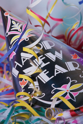 """a """"Happy New Year"""" party hat"""