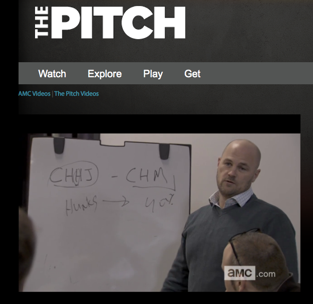 """a video from the reality show """"The Pitch"""""""