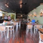 The teacups get a lot of attention, but the cafe's floors are notable, too.