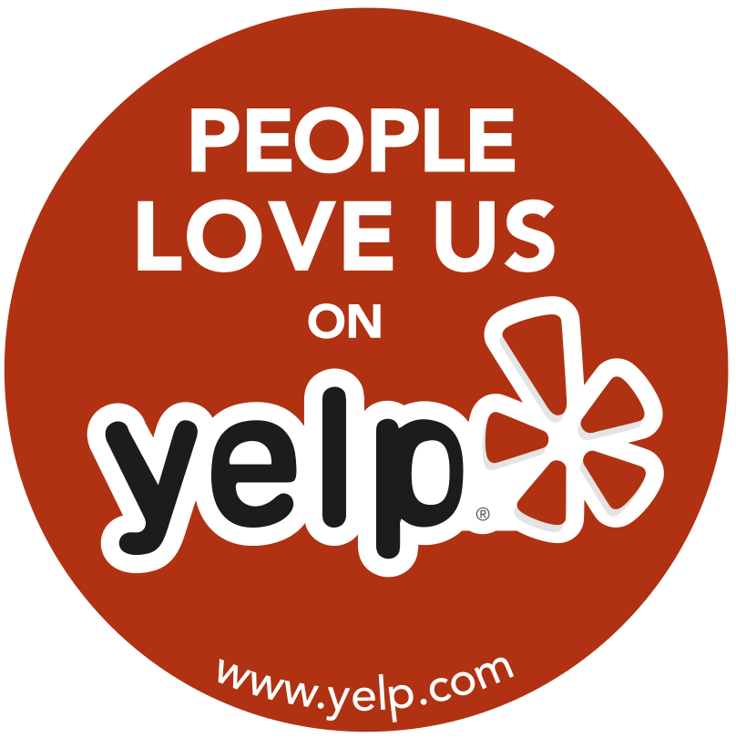 """""""People love us on yelp"""" graphic"""
