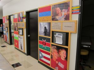 Patients are greeted with flags of their homelands, helping them feel a part of their new community while also honoring their heritage.