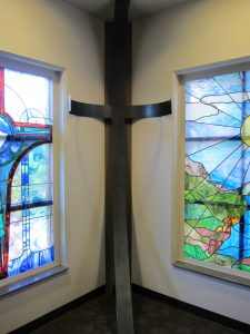 A place of respite, Siloam's chapel features a custom-made cross that demonstrates both faith and love for visitors.