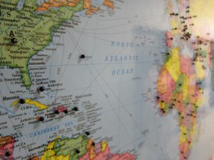 PIns represent the countries of origin for Siloam patients, showcasing its global reach.