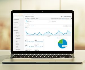 Google analytics on a laptop screen