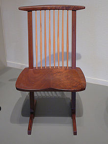 Conoid Chair by George Nakashima, 1988