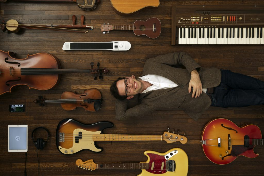 Mike Butera and musical instruments