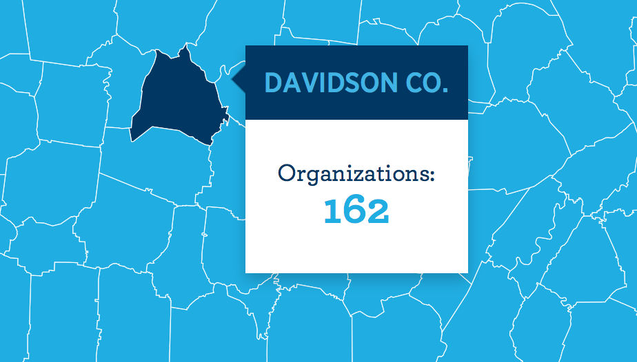Davidson County Tennessee map detail
