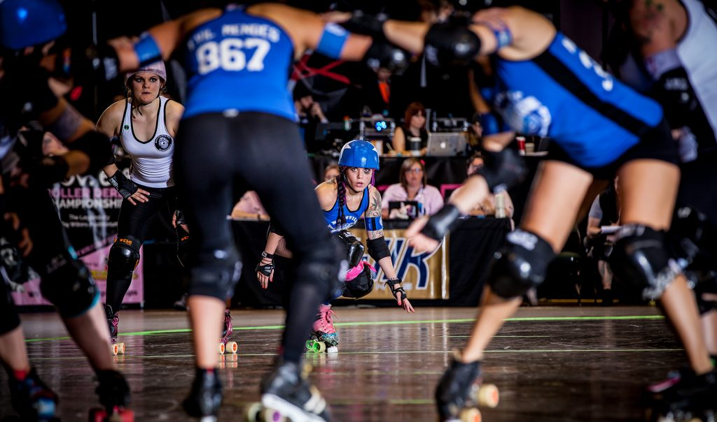 Focus in a key component of success in roller derby, so Lady Fury says she gives it her all when she's on the track.