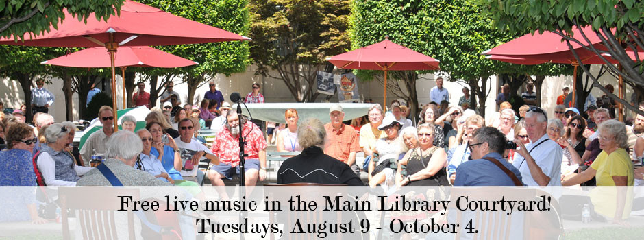 The Downtown Main Library becomes a concert venue during Tuesdays in August and September, thanks to the Courtyard Concert Series.