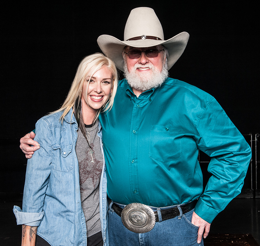 Nan Nelson with Charlie Daniels