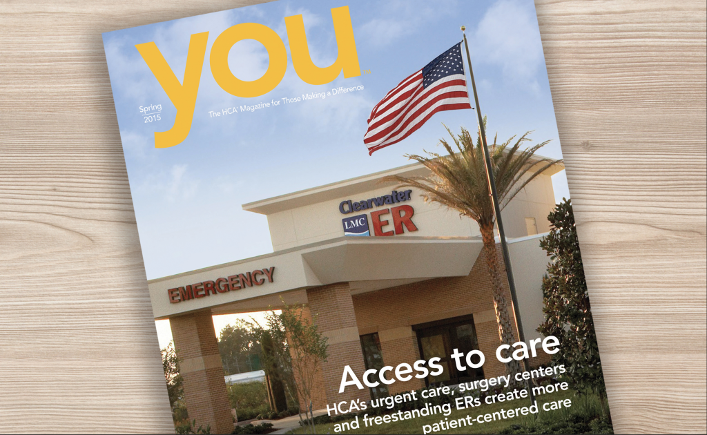 the Spring 2015 issue of You magazine for HCA Hospital
