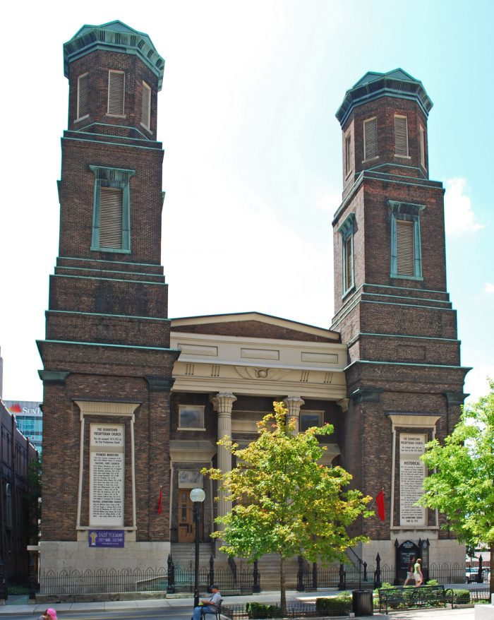 Exterior of Downtown Presbyterian Church in Nashville