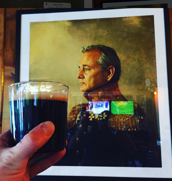 picture of bill murray dressed as general