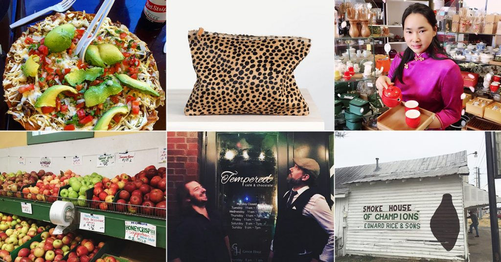 Collage of small business offerings in Nashville by Neighborhood