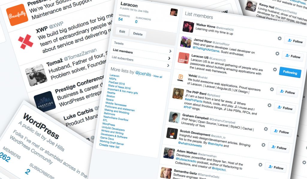 examples of twitter lists