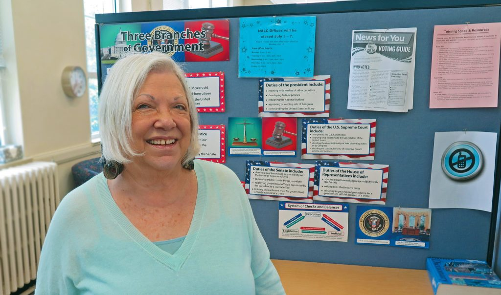 Nashville Adult Literacy Council volunteer tutor Sheila Jacobs.