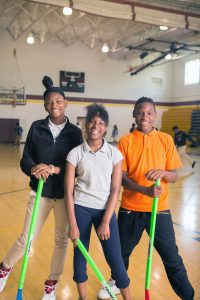 McKissack Middle Prep students in phys ed class