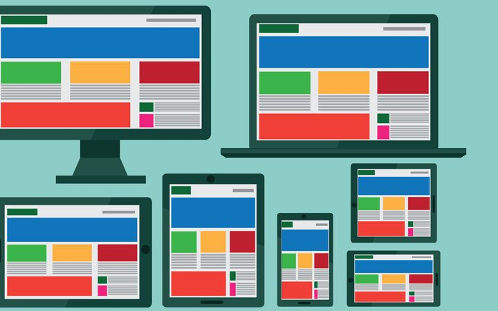 mobile responsive website views across devices